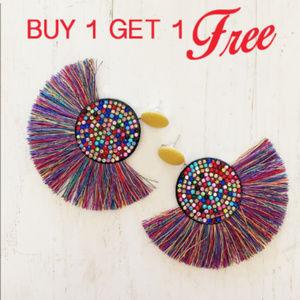 Jewelry - BOGO! Multicolor Statement Tassel Earring